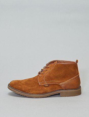 b960176b3 Sapatos citadinos subidos em couro  XTI  - Kiabi