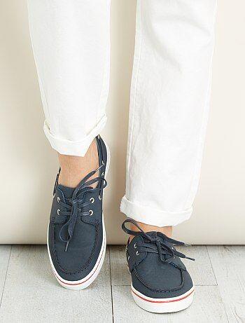 Sapatos de vela em pele sintética - Kiabi