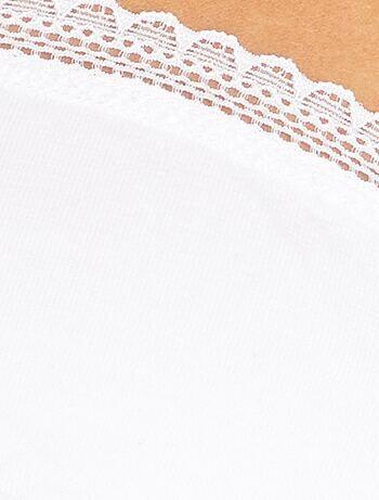 7e9770b5e Soutien de algodão com copa D E Lingerie do s até xxl - Branco ...