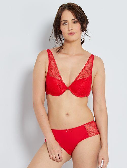 Soutien tipo lenço ampliforma                                                                                                                                                                             Vermelho