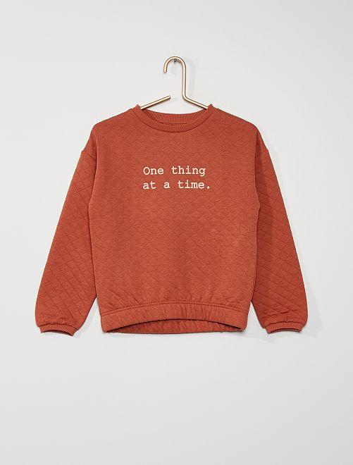 Sweatshirt com base elástica                                           ROSA