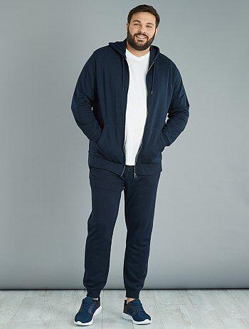 Sweatshirt com capuz com fecho em moletão leve - Kiabi