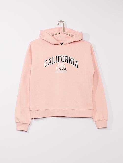 Sweatshirt com capuz de conceção ecológica                                                                                                     ROSA