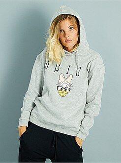 Sweat - Sweatshirt com capuz 'Disney' em moletão