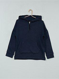 Sweatshirt com capuz e gola com fecho - Kiabi
