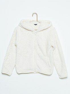 Sweat - Sweatshirt com capuz em malha peluche