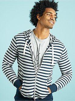 Sweat - Sweatshirt com capuz em moletão leve