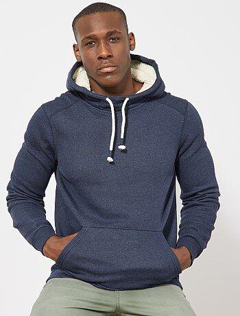 Sweatshirt com capuz forrada - Kiabi
