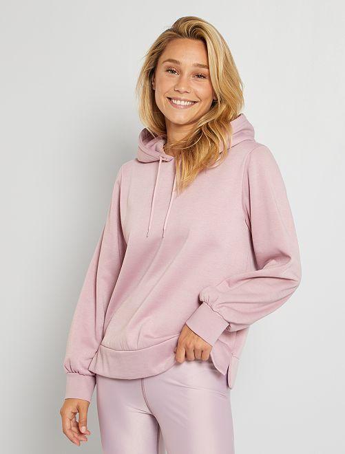 Sweatshirt com capuz Made in France                                         Rosa Velho