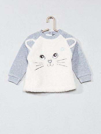 Sweatshirt com desenho 'gato' - Kiabi