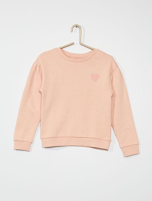 Sweatshirt com estampado 'coração'                                                                                         ROSA