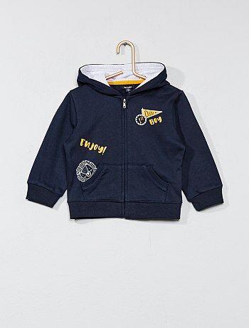Sweatshirt com fecho em moletão - Kiabi