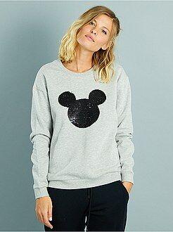 Sweat - Sweatshirt com lantejoulas reversíveis 'Mickey'