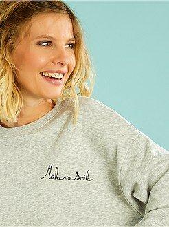 Sweat - Sweatshirt com mensagem bordada