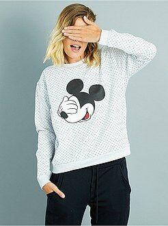 Sweat - Sweatshirt com pontilhado e estampado 'Mickey' - Kiabi