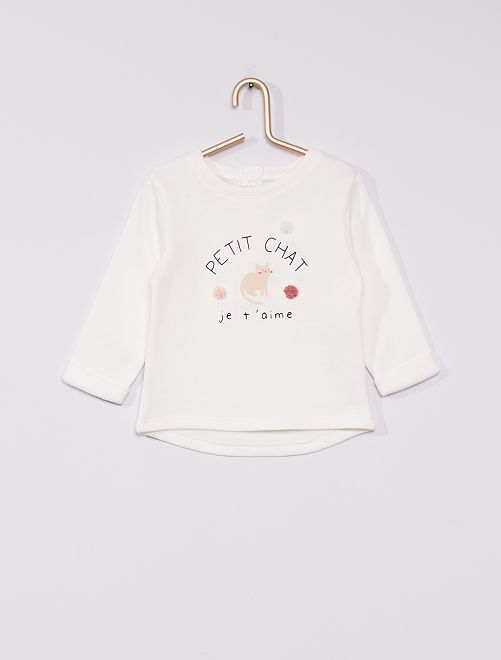 Sweatshirt de conceção ecológica                                                                             BRANCO