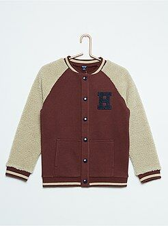 Casaco - Sweatshirt de manga comprida em sherpa - Kiabi