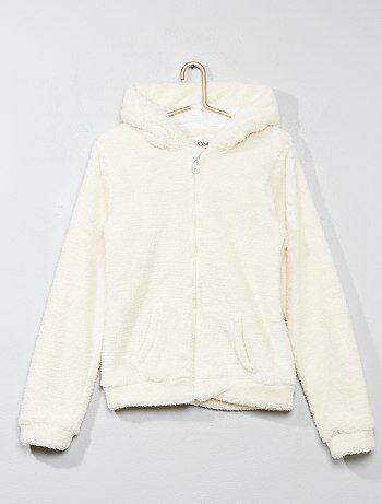 Menina 10-18 anos - Sweatshirt em malha de peluche - Kiabi