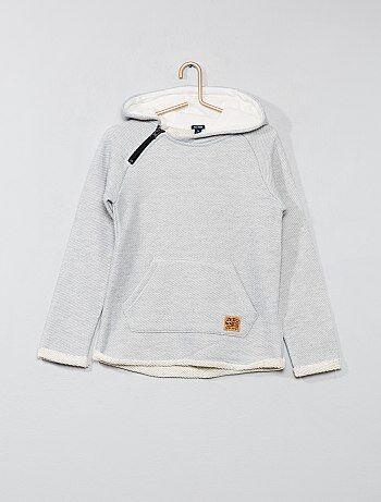Sweatshirt em malha fantasia - Kiabi