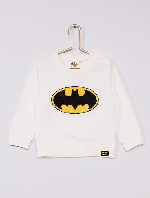 Sweatshirt em moletão 'Batman' 'DC Comics'                             Branco