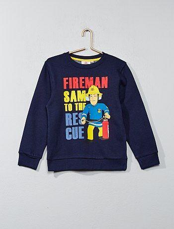 Menino 3-12 anos - Sweatshirt em moletão 'Bombeiro Sam' - Kiabi