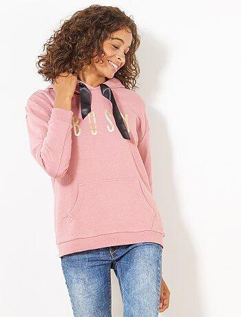 Sweatshirt em moletão com capuz - Kiabi