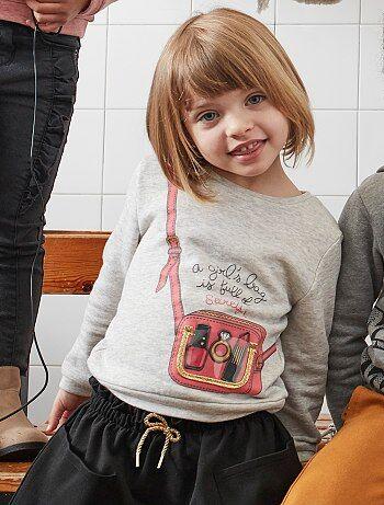 Sweatshirt em moletão com desenho - Kiabi