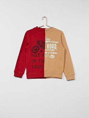 Sweatshirt em moletão com efeito 2 em 1 - Kiabi