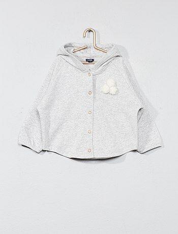 Sweatshirt em moletão com pompons - Kiabi