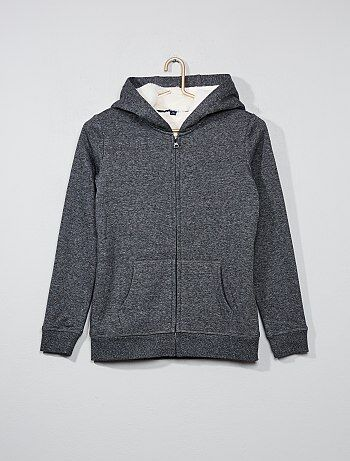 Sweatshirt em moletão forrado - Kiabi