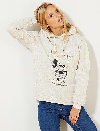 Sweatshirt em moletão 'Mickey' - Kiabi