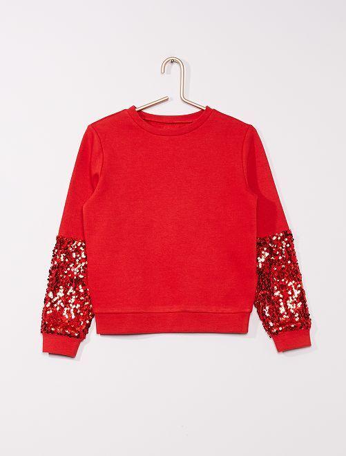 Sweatshirt em moletão                             ROXO