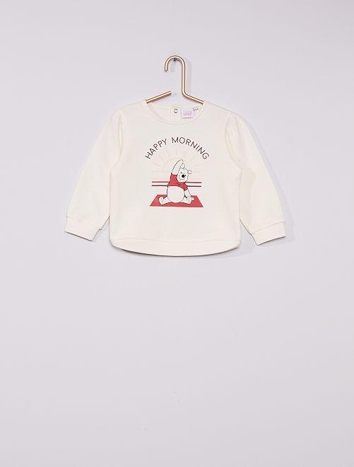 Sweatshirt em moletão 'Winnie' conceção ecológica                             BRANCO