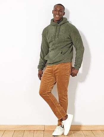 Sweatshirt em sherpa com capuz - Kiabi