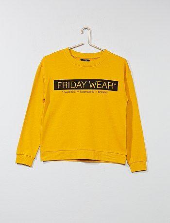 Menina 10-18 anos - Sweatshirt estampada - Kiabi