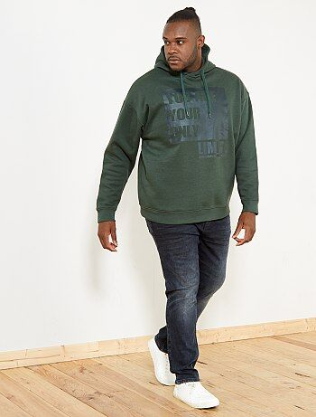 Sweatshirt estampada com capuz - Kiabi