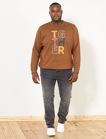 Sweatshirt estampada com mensagem - Kiabi