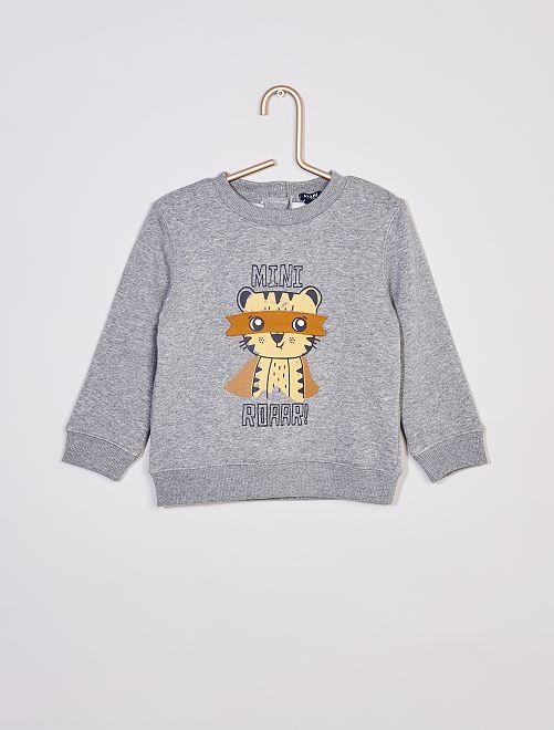 Sweatshirt estampada 'Tigre'                                         CINZA