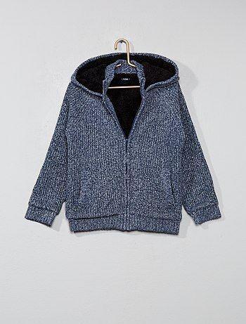 Sweatshirt forrada em sherpa - Kiabi