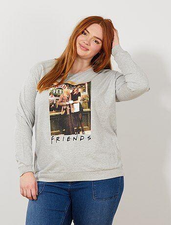 e7a70b08a Mulher tamanhos grandes - Sweatshirt leve  Friends  - Kiabi