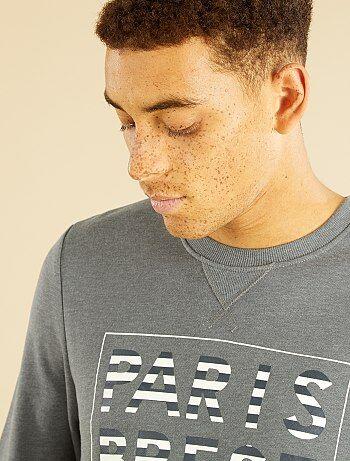 Sweatshirt ligeira em moletão estampado - Kiabi