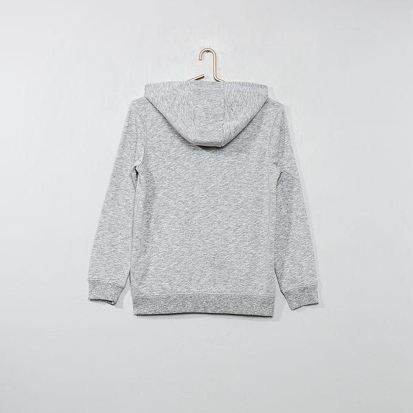 Sweatshirt lisa com fecho com capuz