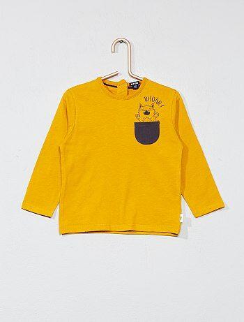 T-shirt com bolso frontal com desenho - Kiabi