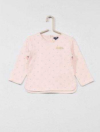 T-shirt com bordado no peito - Kiabi