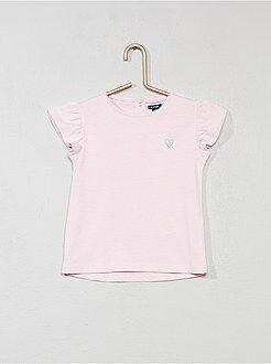 T-shirt - T-shirt com coração brilhante - Kiabi