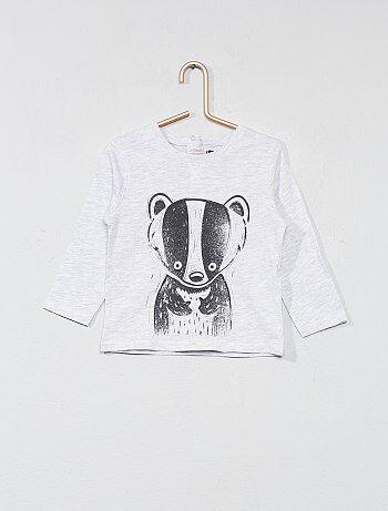 T-shirt com estampado animal - Kiabi