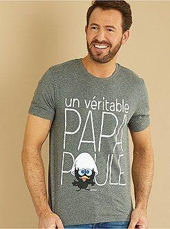 Homem do S até XXL - T-shirt com estampado 'Calimero' - Kiabi