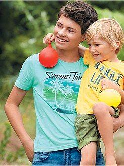 Menino 10-18 anos - T-shirt com estampado de fantasia - Kiabi