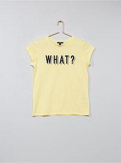 Menina 0-18 anos - T-shirt com estampado 'Girl Gang' - Kiabi