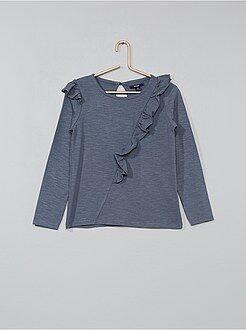 T-shirt, top - T-shirt com folhos assimétricos - Kiabi